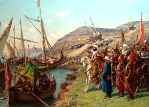 Mehmed at the Siege of Constantinople
